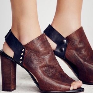 Free People | Chunky leather heels